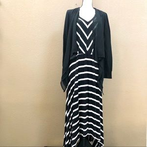 Lane Bryant maxi dress & open cardigan Sz 18/20